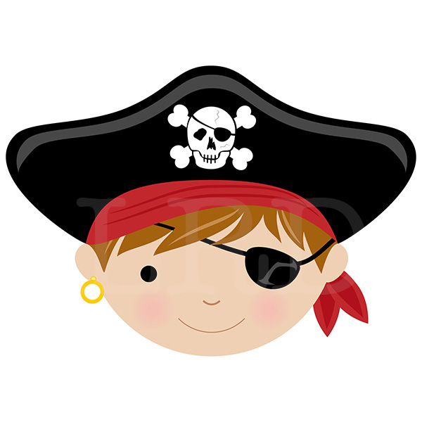 Pirate Face Personalized Placemat Pirate Placemat Kids
