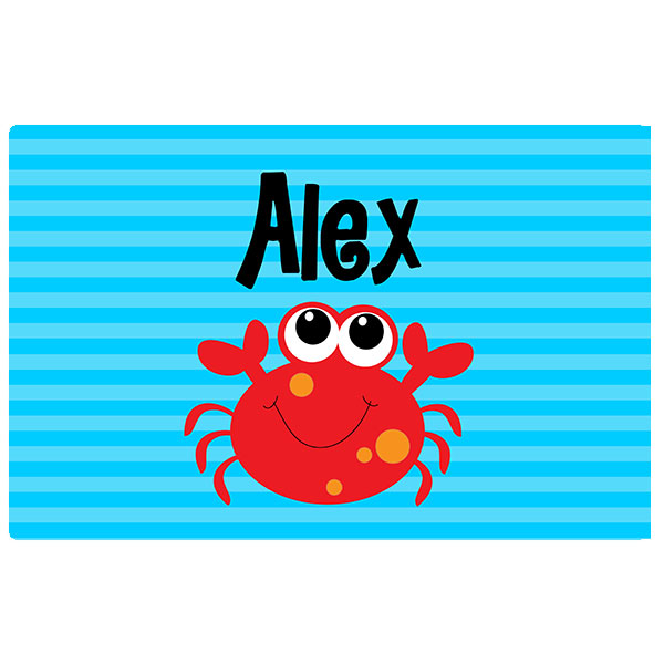 ocean crab boys placemat birthday personalized placemat birthday