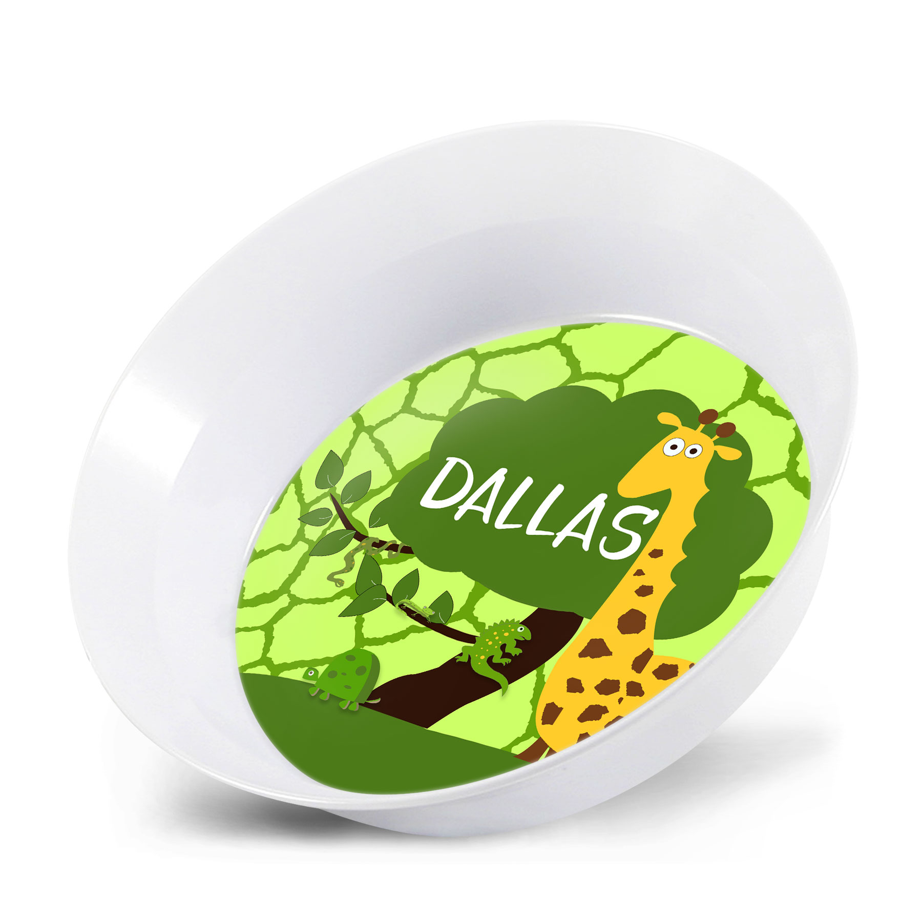 Safari Boys Personalized Melamine Bowl Matching Plate Matching Placemat  sc 1 st  Lime Rikee Designs & Jungle Safari Personalized Kids Bowls Custom Plates u0026 Bowls ...