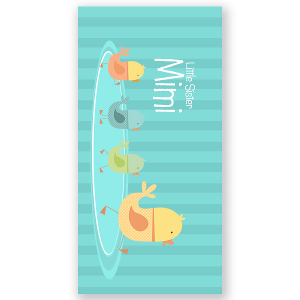 Personalized Beach Towel For Toddler: Ducks Personalized Kids Beach Towel
