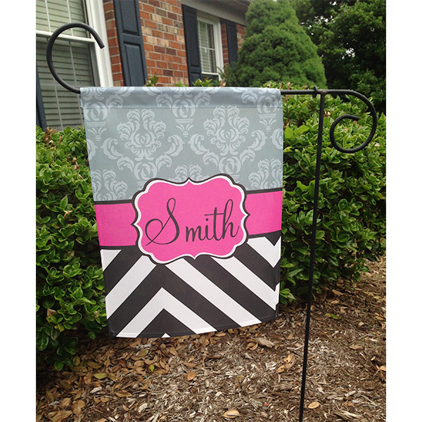 Garden Flag Personalized Garden Flag Chevron Garden