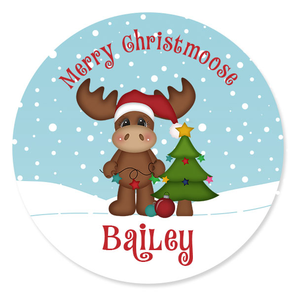 Merry Christmoose Personalized Kids Christmas Plate  sc 1 st  Lime Rikee Designs & Christmas Moose Personalized Christmas Plate | Personalized Girls ...