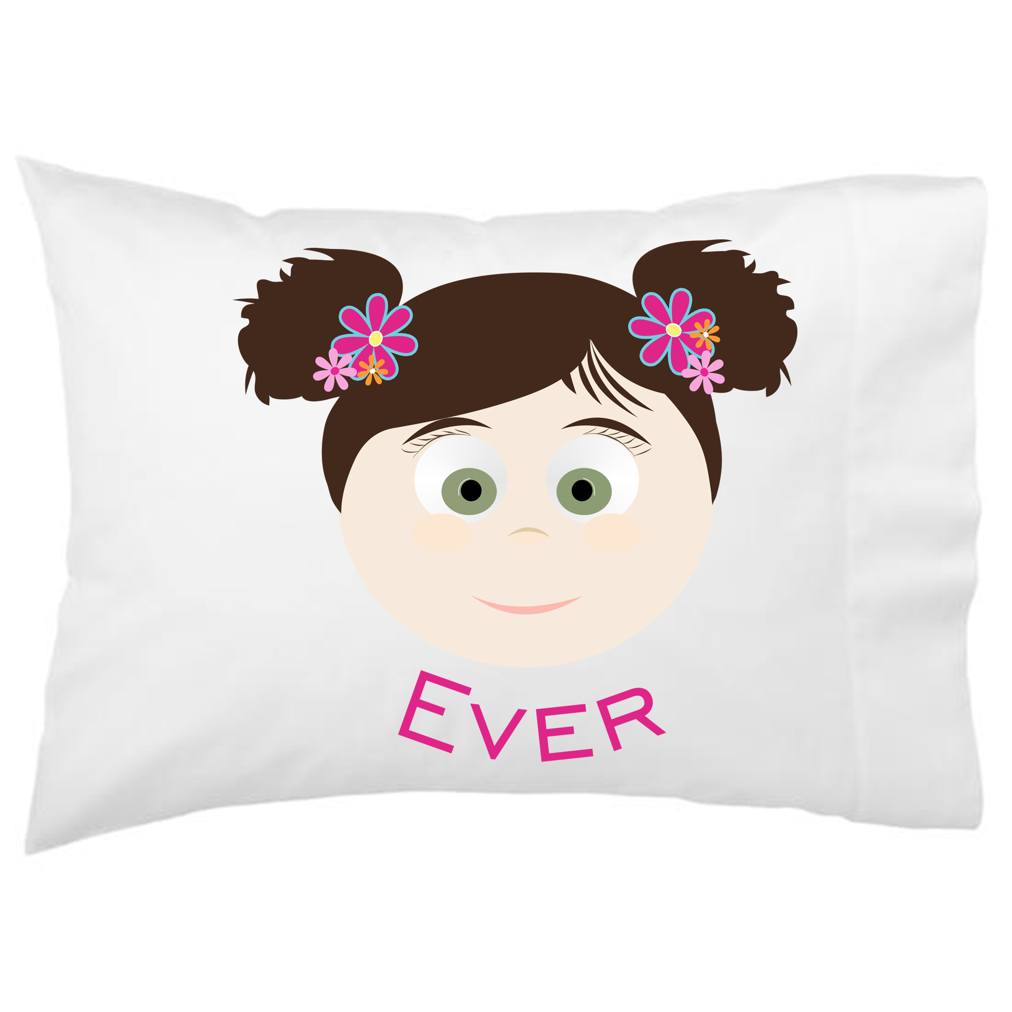 Little Me Girls Personalized Kids Pillowcase Design Your Own Face