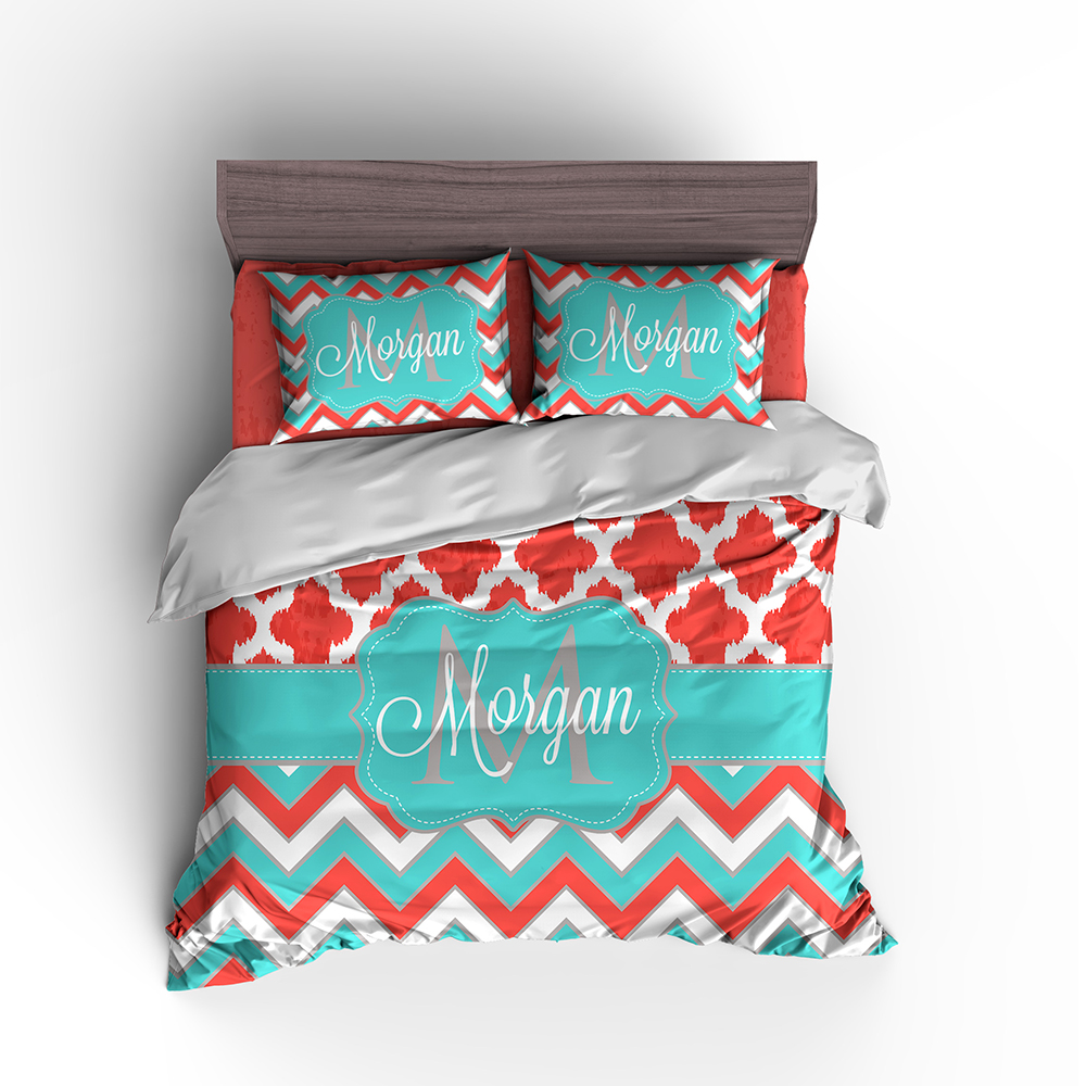 Moroccan Chevron Personalized Bedding Set Duvet Or Comforter