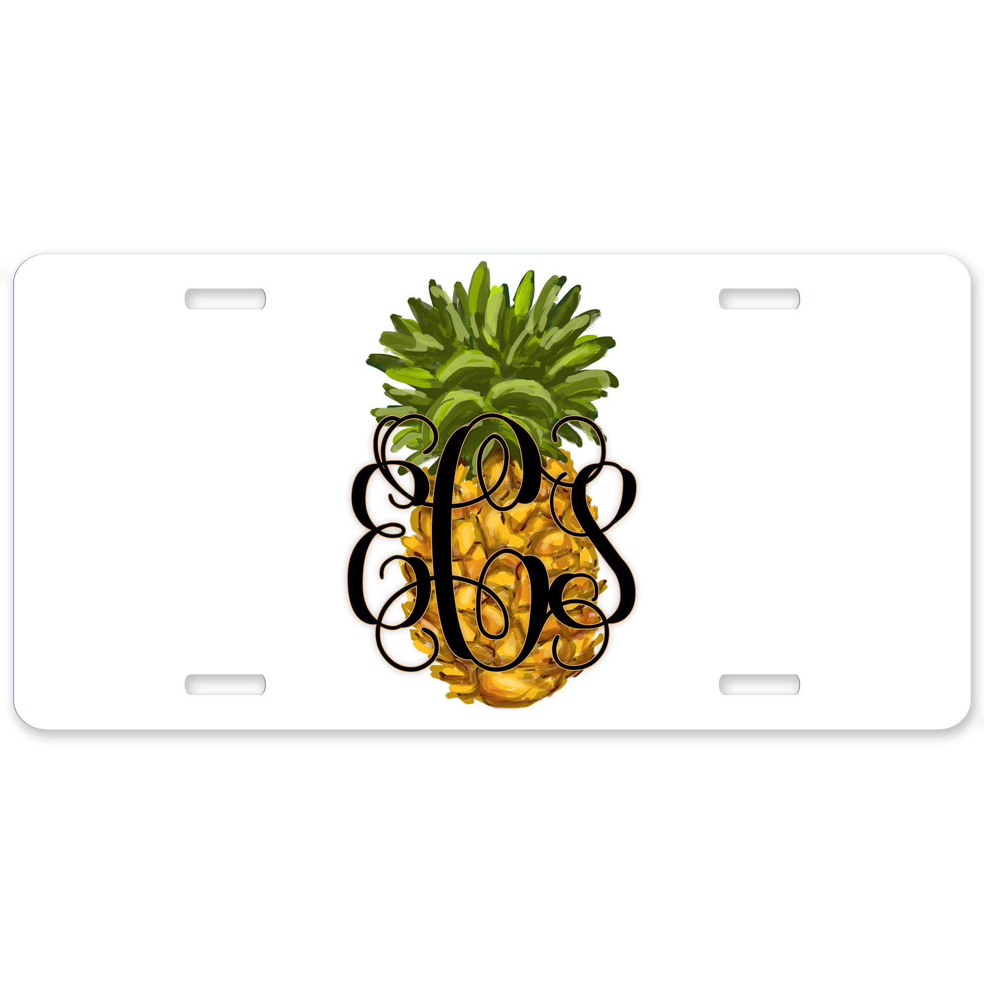 Pineapple Personalized Car Tag - Decorative License Plate Monogrammed License Plate  sc 1 st  Lime Rikee Designs & Pineapple Personalized Car Tag - Decorative License Plate ...