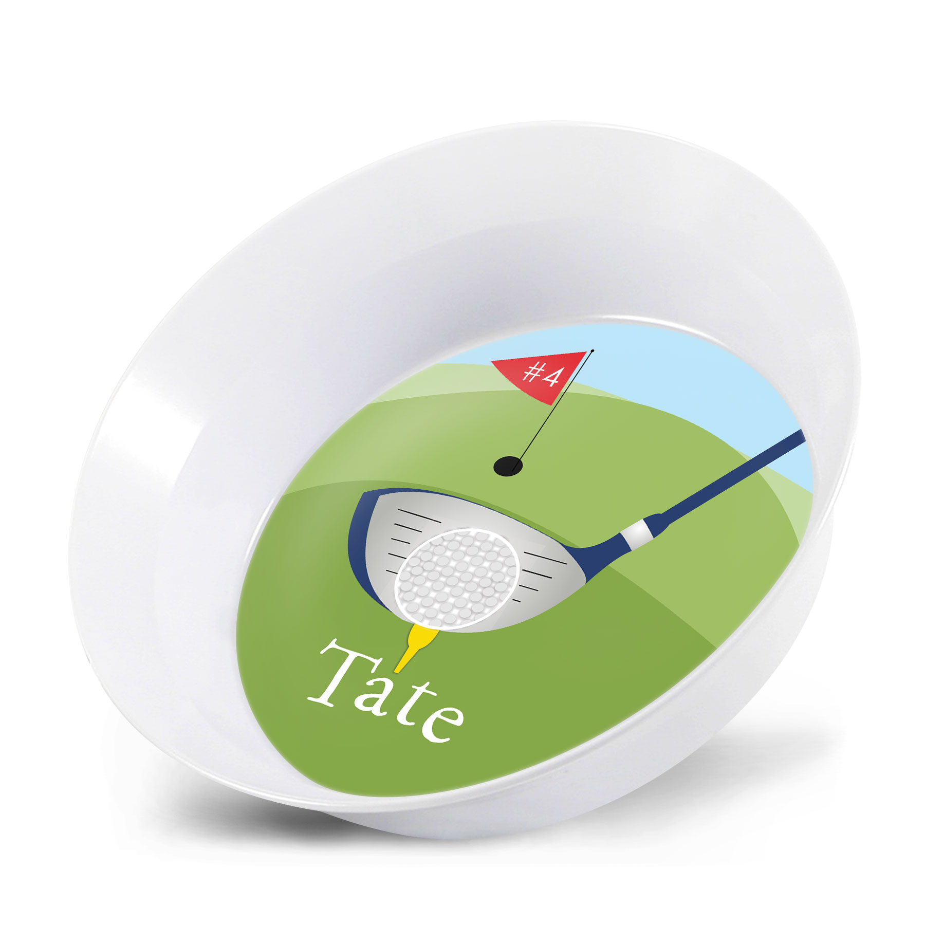 Personalized Kids Bowl - Golf Matching Plate ...  sc 1 st  Lime Rikee Designs & Personalized Kids Bowl - Golf | Personalized Birthday Gift Boys ...