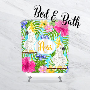 Personalized Bath Products - Shower Curtains Towels