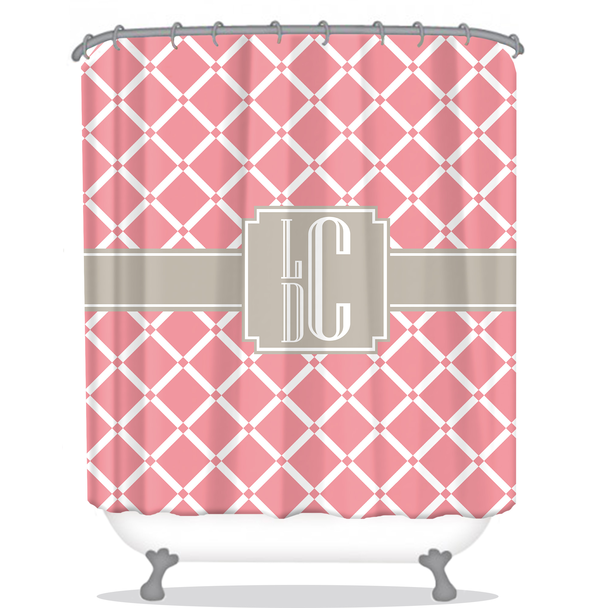 shower curtain monogrammed shower curtain custom shower curtain