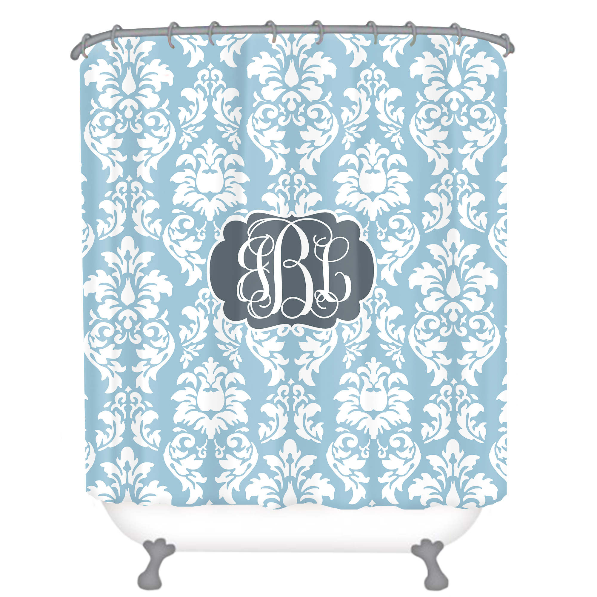 Personalized Shower Curtain Monogrammed Shower Curtain Custom Shower Curtain Decorative