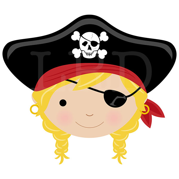 Blonde Hair With Eye Patch Pirate