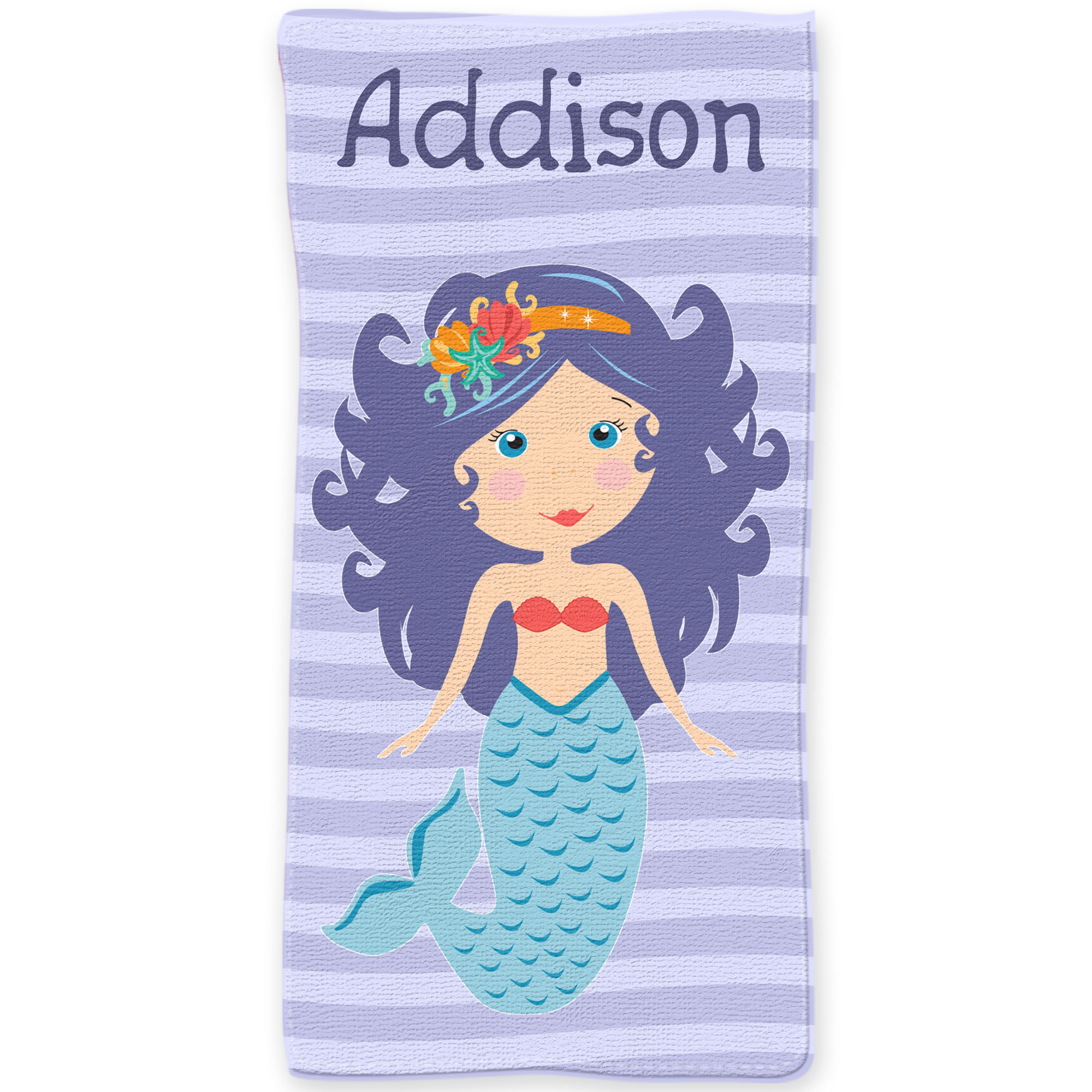 Personalized Beach Towel For Toddler: Mermaid Personalized Beach Towel