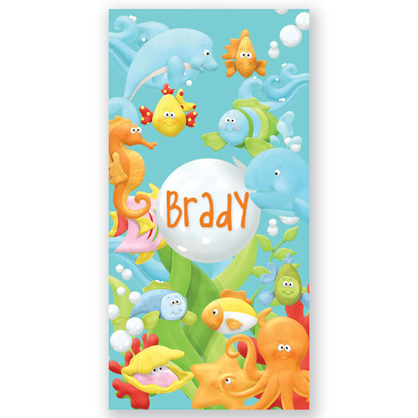 Personalised Beach Towel Pegs: Fish Beach TowelPersonalized Bath