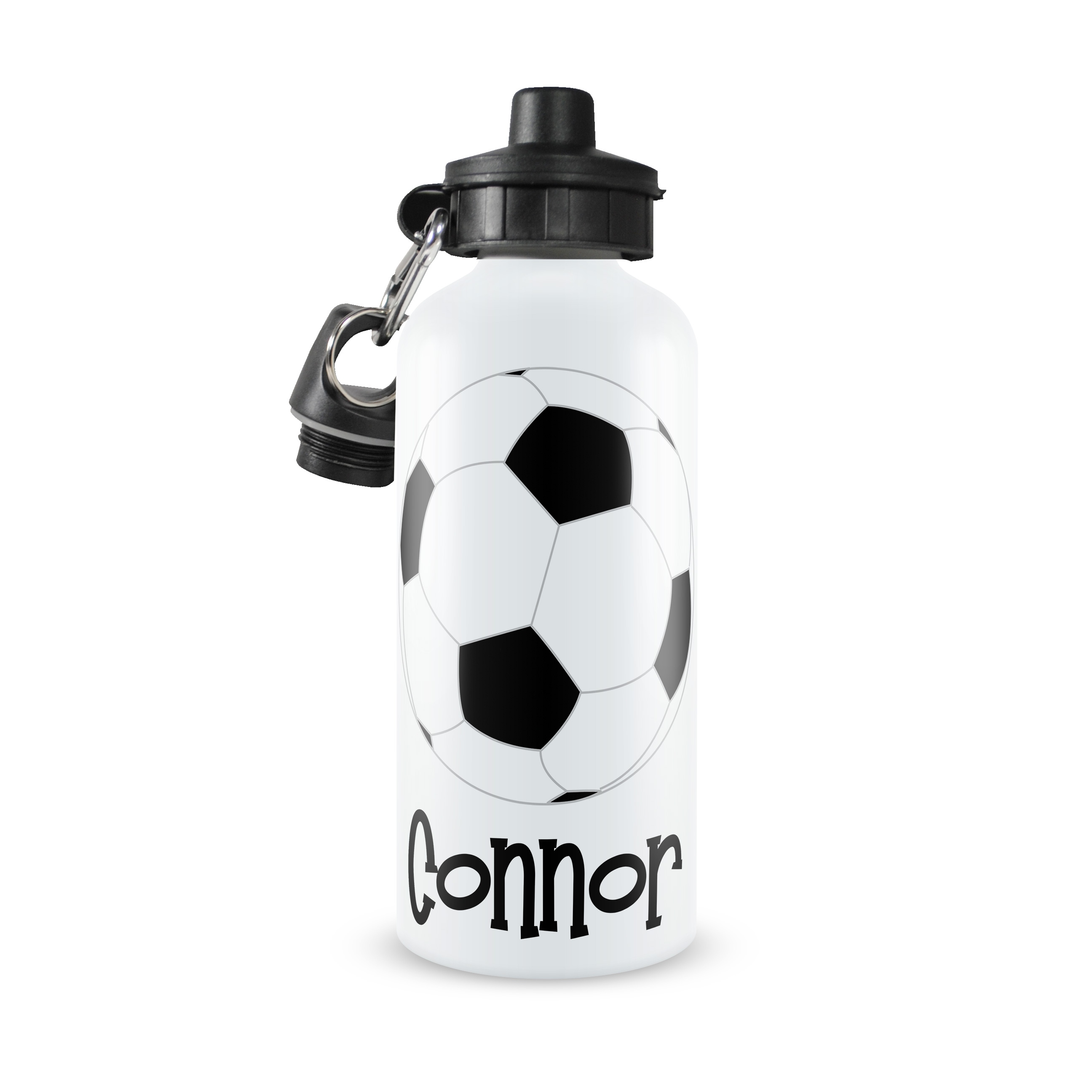 soccer personalized water bottle