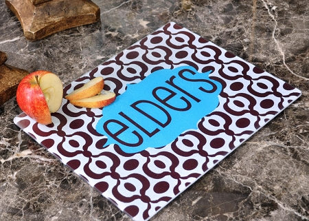 chevron personalized cutting boards  monogrammed cutting boards,