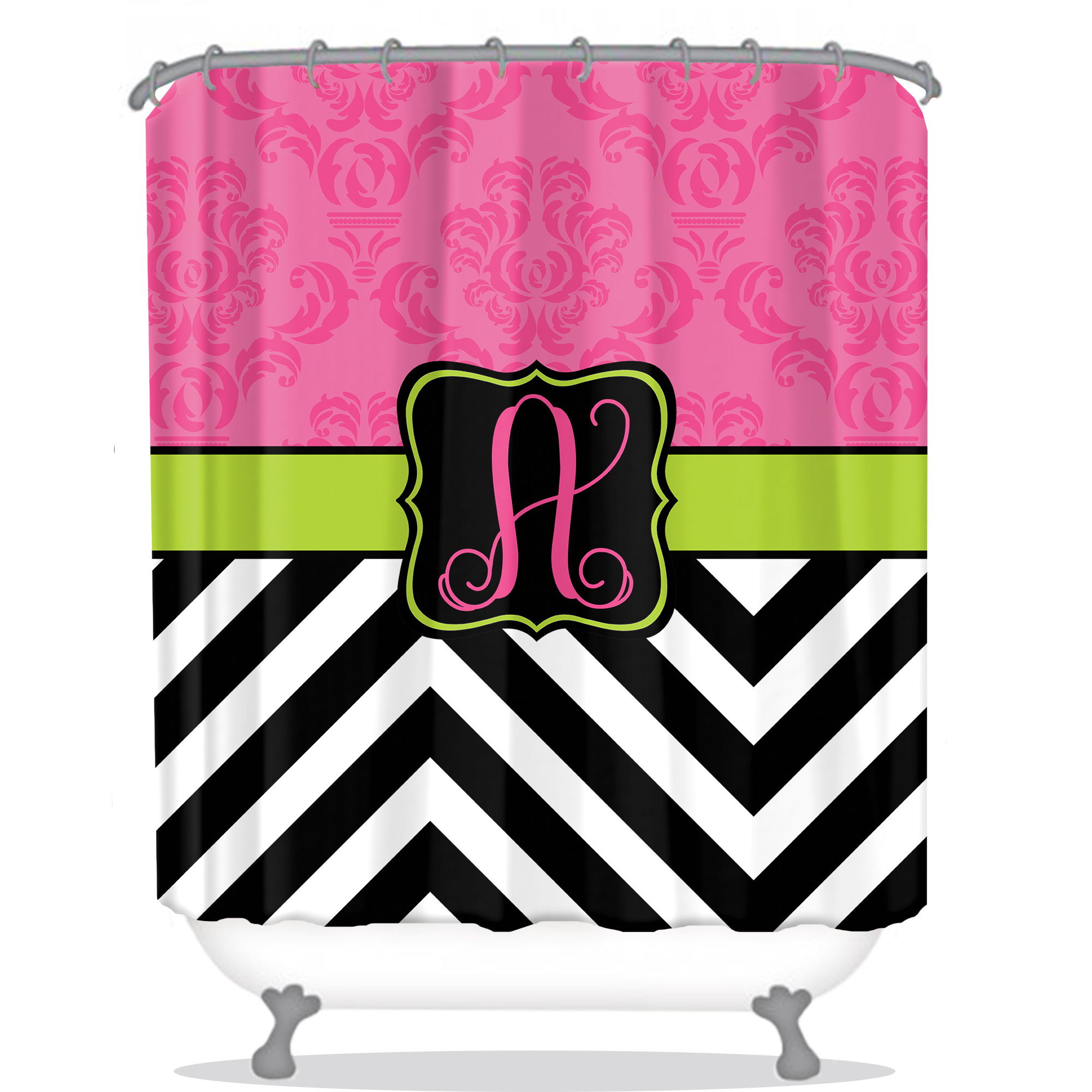 shower curtain chevron shower curtain personalized chevron shower