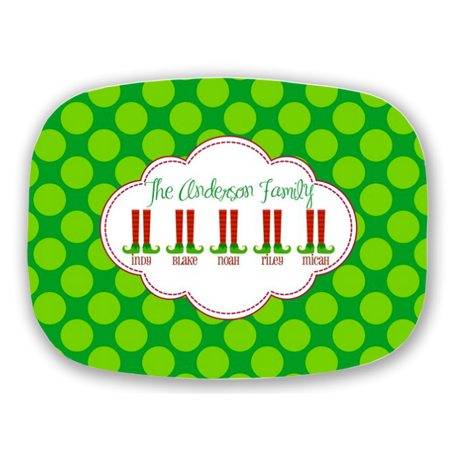 christmas platter personalized christmas plate personalized