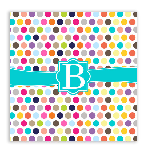 Polka Dots Personalized Shower Curtain | Monogrammed Shower ...