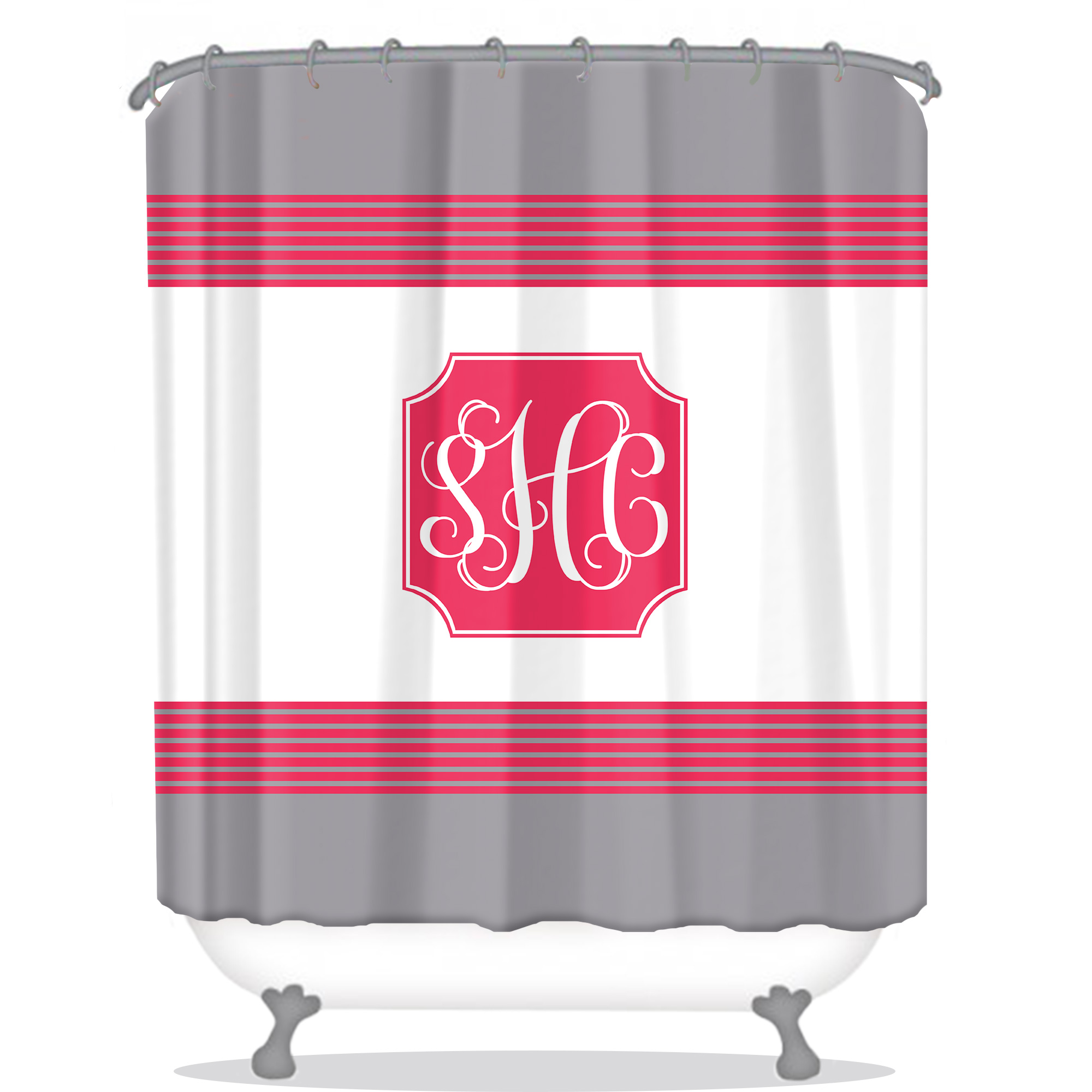 Modern Stylish Personalized Shower Curtain Monogrammed Shower Curtain Custom Shower Curtain