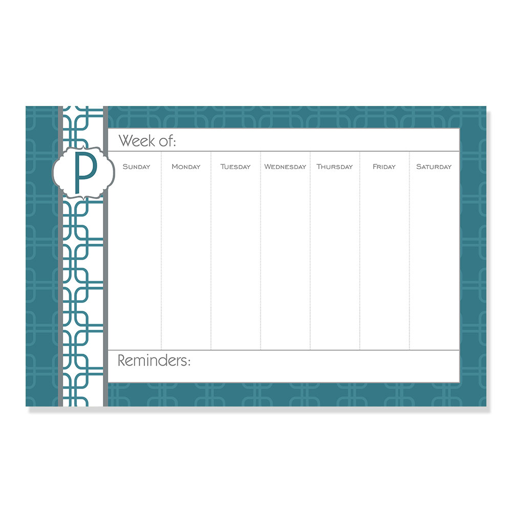 Personalized weekly desk planner custom personalized for Custom photo planner