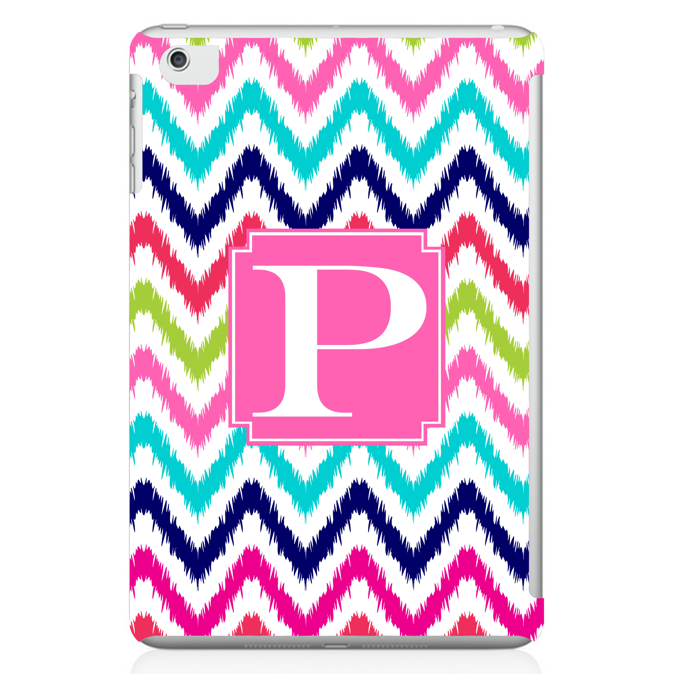 chevron ikat personalized ipad mini case