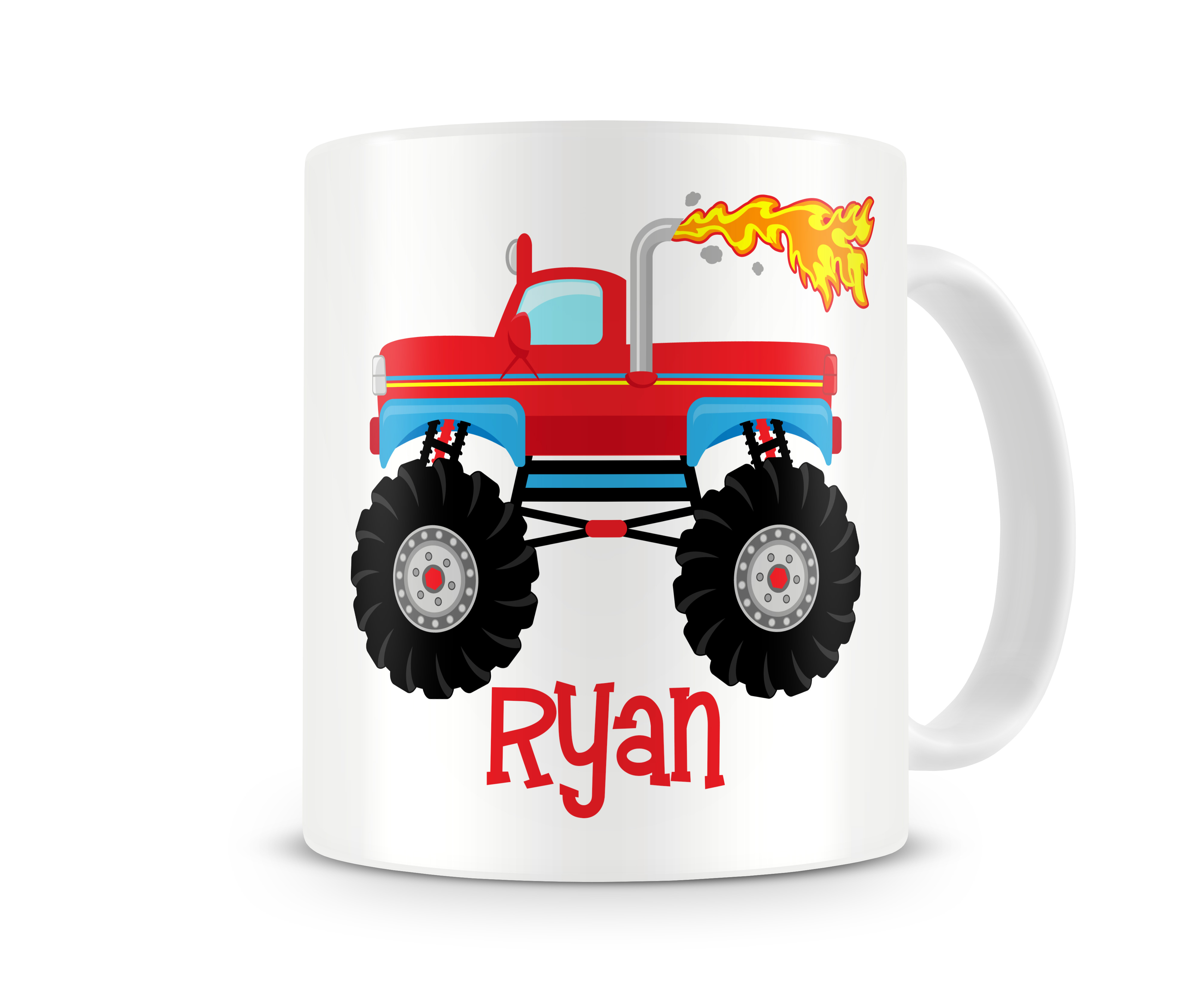 Monster Truck Boys Personalized Kids Mugs Monster Truck