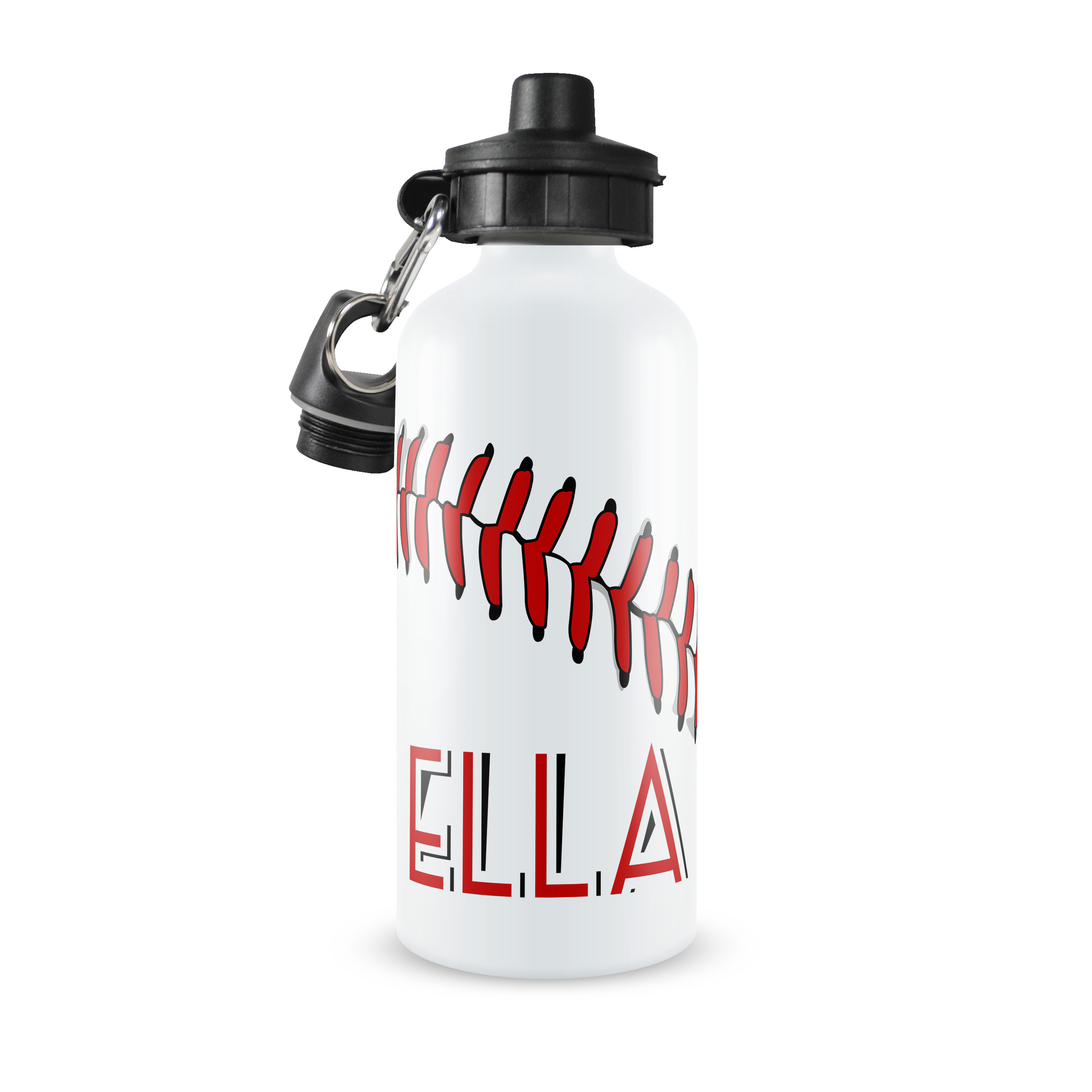 baseball monogram personalized water bottle  softball monogram aluminum water bottle