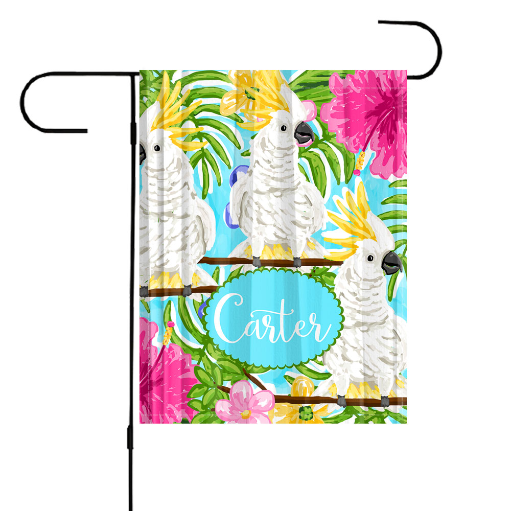 Cockatoo Personalized Garden Flag Beach Garden Flag