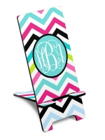 Personalized Rainbow Chevron Phone Stand