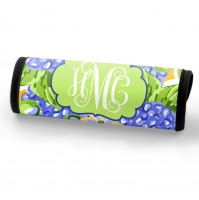Blue Hydrangeas Print Personalized Luggage Handle Wrap