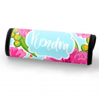 Pink Hibiscus Personalized Luggage Handle Wrap