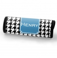 Houndstooth Print Custom Personalized Luggage Bag Handle Wrap, Luggage Finder