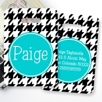 Houndstooth Monogrammed Bag Tag