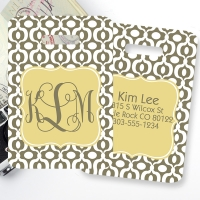 Urban Monogrammed Bag Tag