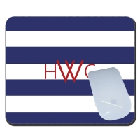 Rugby Stripe Personalized Mouse Pad
