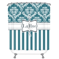 Damask Stripe Personalized Shower Curtain