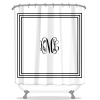 Classic Monogrammed Shower Curtain