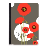 Poppies Monogrammed iPad Mini Folio Case
