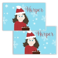 Cookies for Santa - Little Me Girls Personalized Placemat