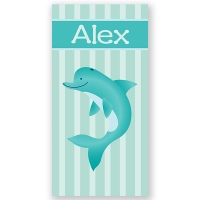 Dolphin Personalized Kids Beach Towel