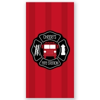 Fireman Personalized Kids Beach Towel
