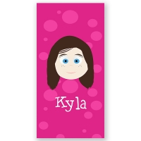 Little Me Girl Personalized Kids Beach Towel