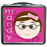 Little Me Girls {Metal} Personalized Lunchbox - Macy Girls-2 tinLB 3