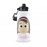 Personalized Girls Water Bottle-Shoulder Length
