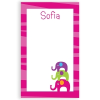 Elephants Personalized Notepad