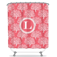 Coral Personalized Shower Curtain