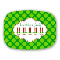 Personalized Family Christmas Platter