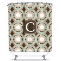 Leopard Print Personalized Shower Curtain
