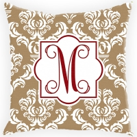 Damask Personalized Couch Pillow