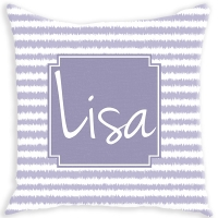 Ikat Stripe Pattern Personalized Couch Pillow