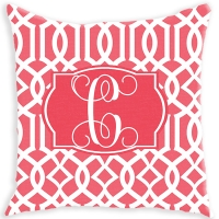 Lattice Pattern Personalized Couch Pillow